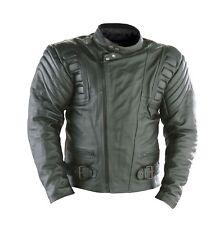 Rayven Stratus Leather Motorbike Motorcycle Jacket CE Armour Padded Kidney Belt