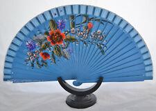 Spanish flamenco wooden hand decorated fans eventails fächers ventagli abanico