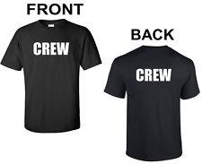 CREW Front & Back T-SHIRT Movie Set Concert Project Construction Worker Shirt