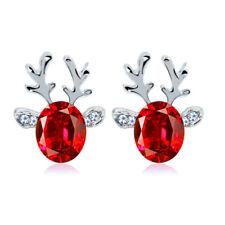 Earrings (Buy 2 Get 1 Free) Boutique Crystal gem antler Christmas Reindeer Stud