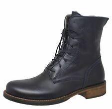 Momino 3953 Boots Stiefel Stiefeletten Leder Lammfell Blau Gr. 35 - 41 Neu