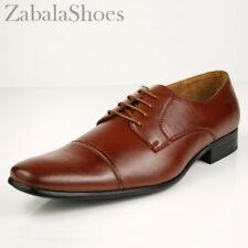 Delli Aldo Fashion Oxfords Mens Dress Shoes Classy Cap Toe Brown Style in Italy