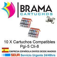 10X COMPATIBLES PARA CANON NON OEM PIXMA IP4200 IP4300 IP4500 IP5200 CON CHIP