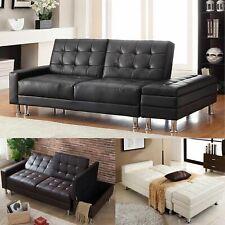 Westwood PU canapé lit avec rangement 3 places invité Lit Ottoman Tabouret PSB04