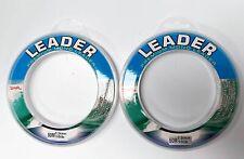 2 x Spools of 50m Various Sizes Premium Monofilament Fishing Leader Line Tackle