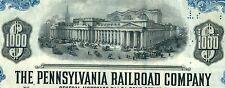 1945 Pennsylvania Railroad Company Bond Stock Certificate PA