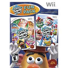 Hasbro Family Game Night Fun Pack 2 3 Nintendo Wii U New FAST FREE Shipping