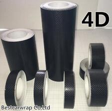 Glossy 4D Real Carbon Fiber Tape DIY Film Wrap Vinyl Sticker Black Adhesive