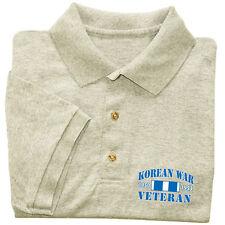 Korean War Veteran shirt Men's polo style t-shirt gray US Marines Army Navy vet