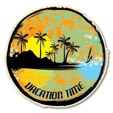 Vacation Time Tropical Surf Sun Beach Car Vinyl Sticker - SELECT SIZE