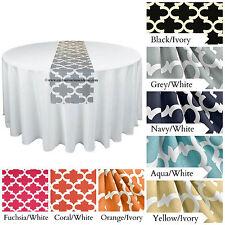 Modern Quatrefoil Table Runner Wedding Decor Centerpiece Lattice Trellis Multi