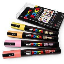 Uni Posca PC-5M Marcador De Arte Pintura Plumas-Colour Packs - 4 Juego en Plástico Cartera
