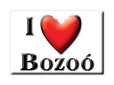 SOUVENIR ESPAÑA CASTILLA Y LEÓN MAGNET CORAZON SPAIN I LOVE BOZOÓ (BURGOS)