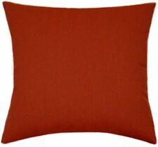 Sunbrella Canvas Henna Indoor/Outdoor Solid Pillow