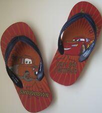 Disney Cars Lightning McQueen Flip Flops Sandals Boys Slippers Beach Red Blue