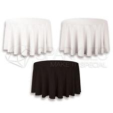 "120"" Round Tablecloth Fabric Linen Cloth Dinner Wedding Banquet"
