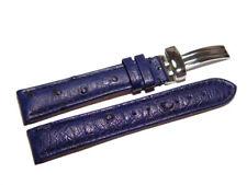 Uhrenarmband mit Unterlage Jungkalb Modell U-Chur alaskablau 24 mm