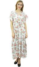 longue robe blanche kimono floral cordon de serrage maxi satin des femmes Bimba