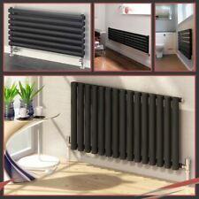 Orizzontale Nero & Antracite Designer RADIATORI OVALE, Flat Panel & colonna rads