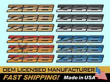 1982 Z28 Rocker Panel Fender & Rear Bumper Domed Decal Emblems Kit 3 Pieces