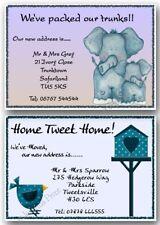 Personalised Change of Address Moving House Cards, Bird or Elephant x10