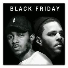 59475 Kendrick Lamar & J Cole Rap Hip Hop Music FRAMED CANVAS PRINT UK
