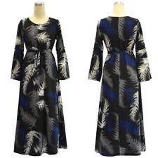 Fashion Women Print Bell Sleeve Dress Robe Floral Maxi Gown Muslim Abaya M-7XL