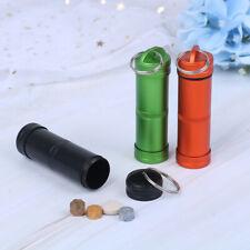 Mini Waterproof Capsule Seal Bottle Outdoor EDC Survival Pill Box Tank Case PL