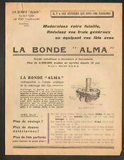 """LE PUY (43) BONDE ALMA pour TONNEAU D'ALCOOL """"Ets. BONDE ALMA"""""""