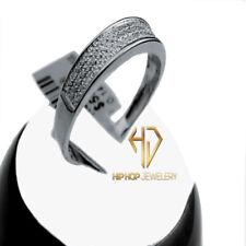 Natural Diamond Ring Wedding Band New Men'S White Gold Finish Genuine Real