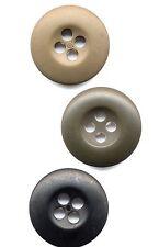 Bag of 100 B.D.U. Buttons - Black, OD, Khaki Tan BDU Buttons - 100 Count