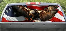 Rear window graphics USA Flag and Bald Eagle