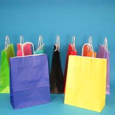 250-350 Papiertragetaschen Papiertüten bunt 26+12x35cm m. Kordel versch. Farben