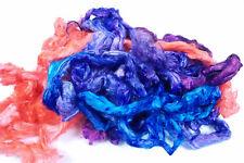Hand Dyed Ramie Fibre Tops Multi Colour Mix Plant Fibers Felt Spin Weave Vegan