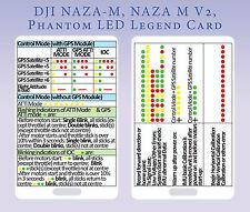 LED legend card for DJI Phantom Naza, Naza V2, F550, F450 etc - PVC hard card