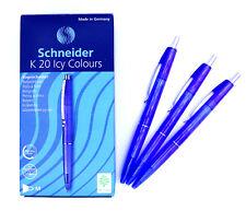 Schneider K20 Icy Colours Kugelschreiber Blau Schwarz 20er Neu