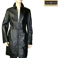 OAKWOOD manteau agneau souple femme cuir noir taille S size