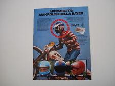advertising Pubblicità 1980 CASCHI IN MAKROLON e MOTO KTM