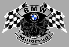 BMW Motorrad Skull /Flags Sticker