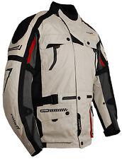 Tourenjacke beige//schwarz Roleff Racewear lange Motorradjacke mit Protektoren