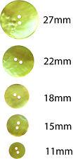 6 x Lemon & Lime Akoya bottoni in madreperla: 11,15,18,22,27mm, giallo, verde