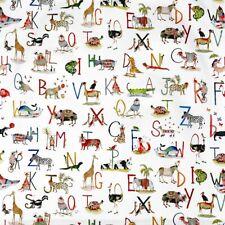 Animal Alphabet Matte Cotton PVC WIPE CLEAN Tablecloth Oilcloth
