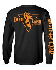 Dixie Land Outdoors Men's Long sleeve bowhunter t shirt Deer Skull bow hunting