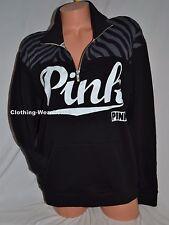 Victoria's Secret Pink Black Zebra Boyfriend Half Zip Sweater Pullover XS,S,M