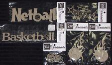 SCRAP FX Chipboard 'BASKETBALL/NETBALL' Embellishments (Choose from 6 designs)