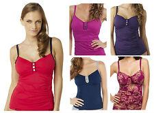 Panache Veronica Underwired Tankini Top SW0641 Red, Navy, Purple New Swimwear