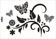Wandschablone Maler T-shirt Schablone W-072 Schmetterling ~ UMR Design