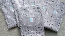 6 Herren Unterhemden  Achselhemd  Fa.Thieme  Grau gemustert Baumwolle Gr.10 OVP
