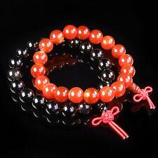 Natural Gemstone Beads Energy Stone Stretchy Buddhist Bracelet Chinese Knot
