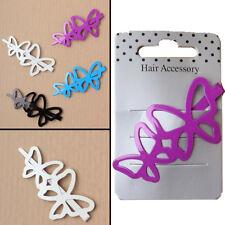 2 X Mariposa Hair Clips Broches clase School Girl's pasadores de verano estilo de pelo